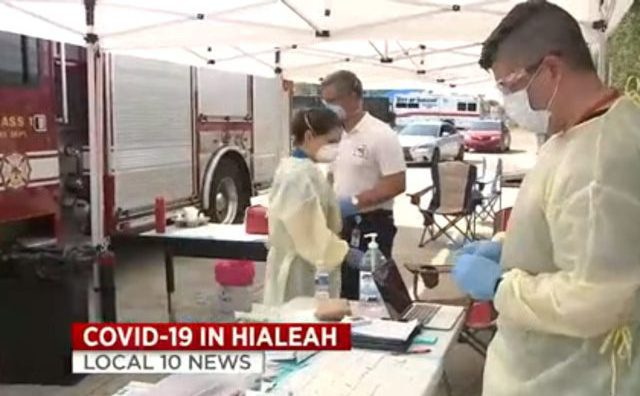 Entire Hialeah Fire Department gets quick test for coronavirus