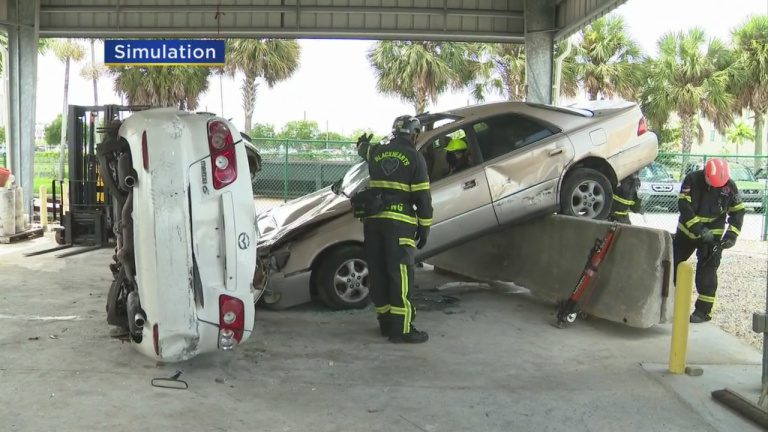 Miami-Dade Fire Rescue Blackhearts Use Realistic Simulations To Practice Life-Saving Skills